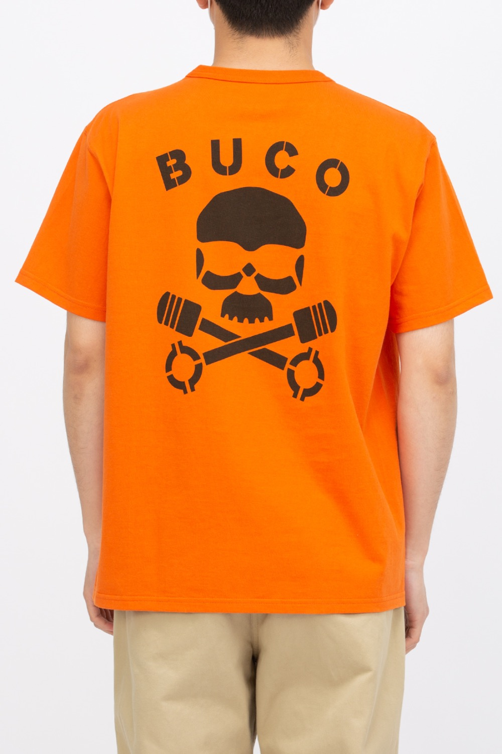 BUCO TEE / SKULL PISTON ORANGE