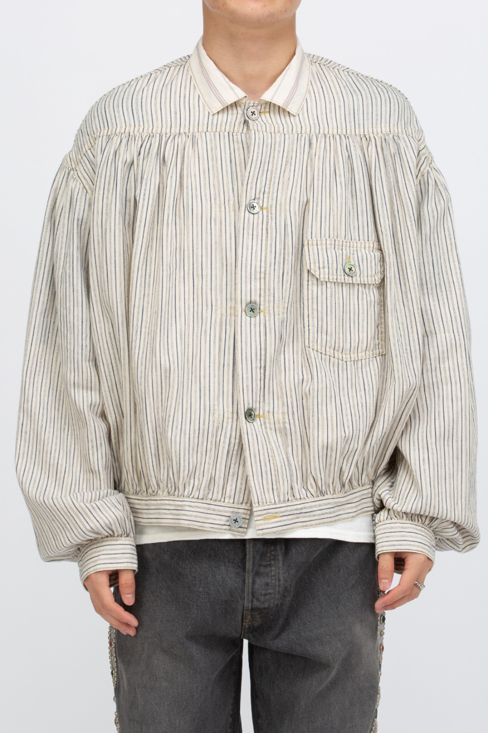 TWILL STRIPE GYPSY BLOUSE 1ST JKT
