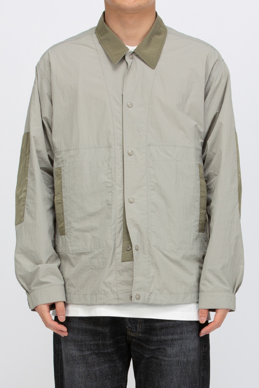 REVERSIBLE NYLON JACKET LIGHT GREY