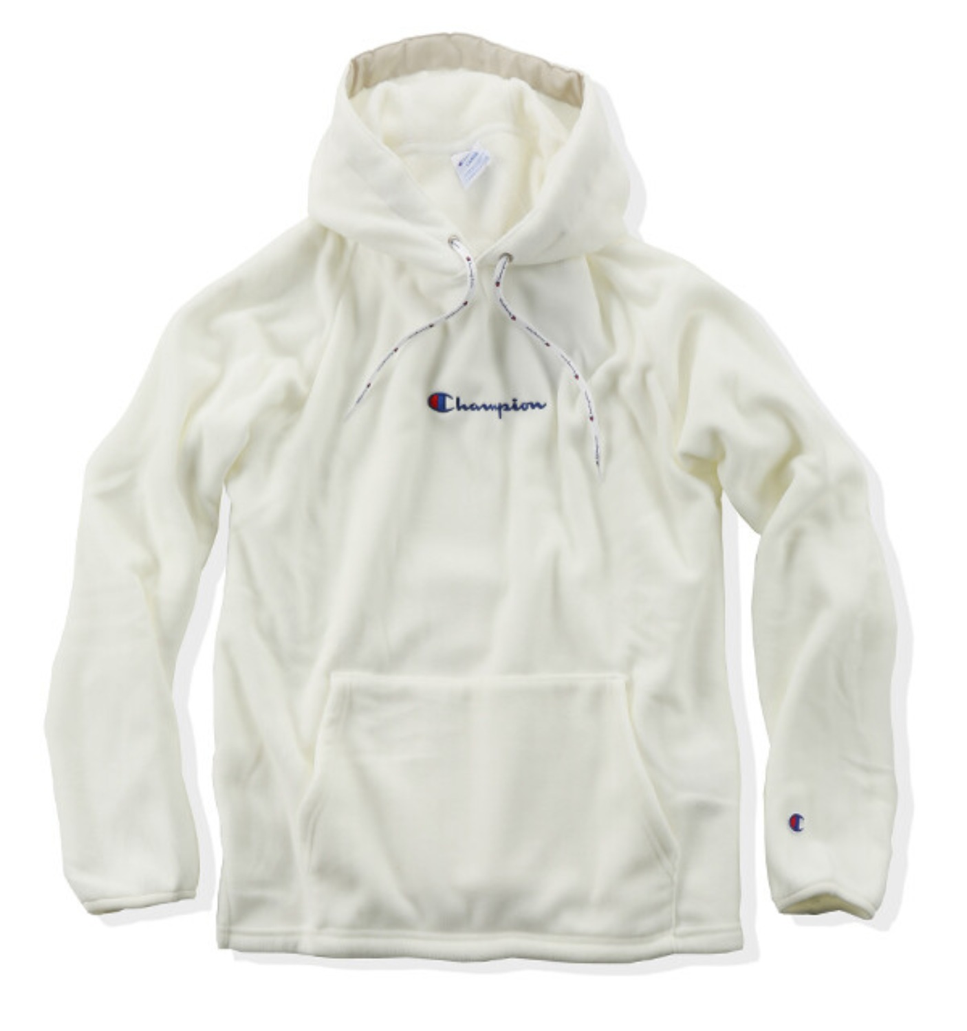 POLARTEC® PULLOVER FLEECE HOODED WHITE(C3-N611)