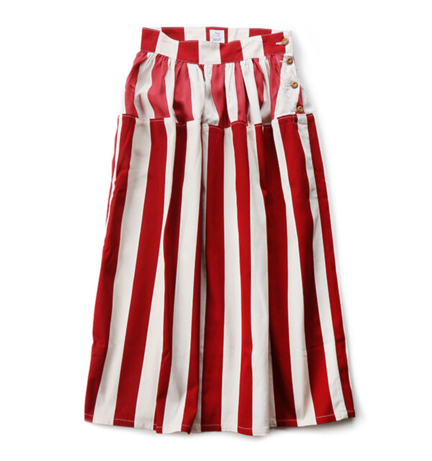 WMV ELEVATION LONG SKIRT CECILE STRIPE RED