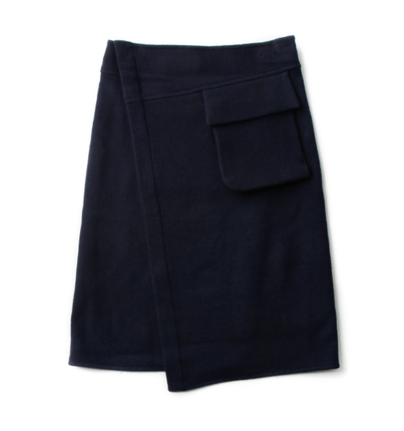 SYLA wrap jersey skirt BLUE