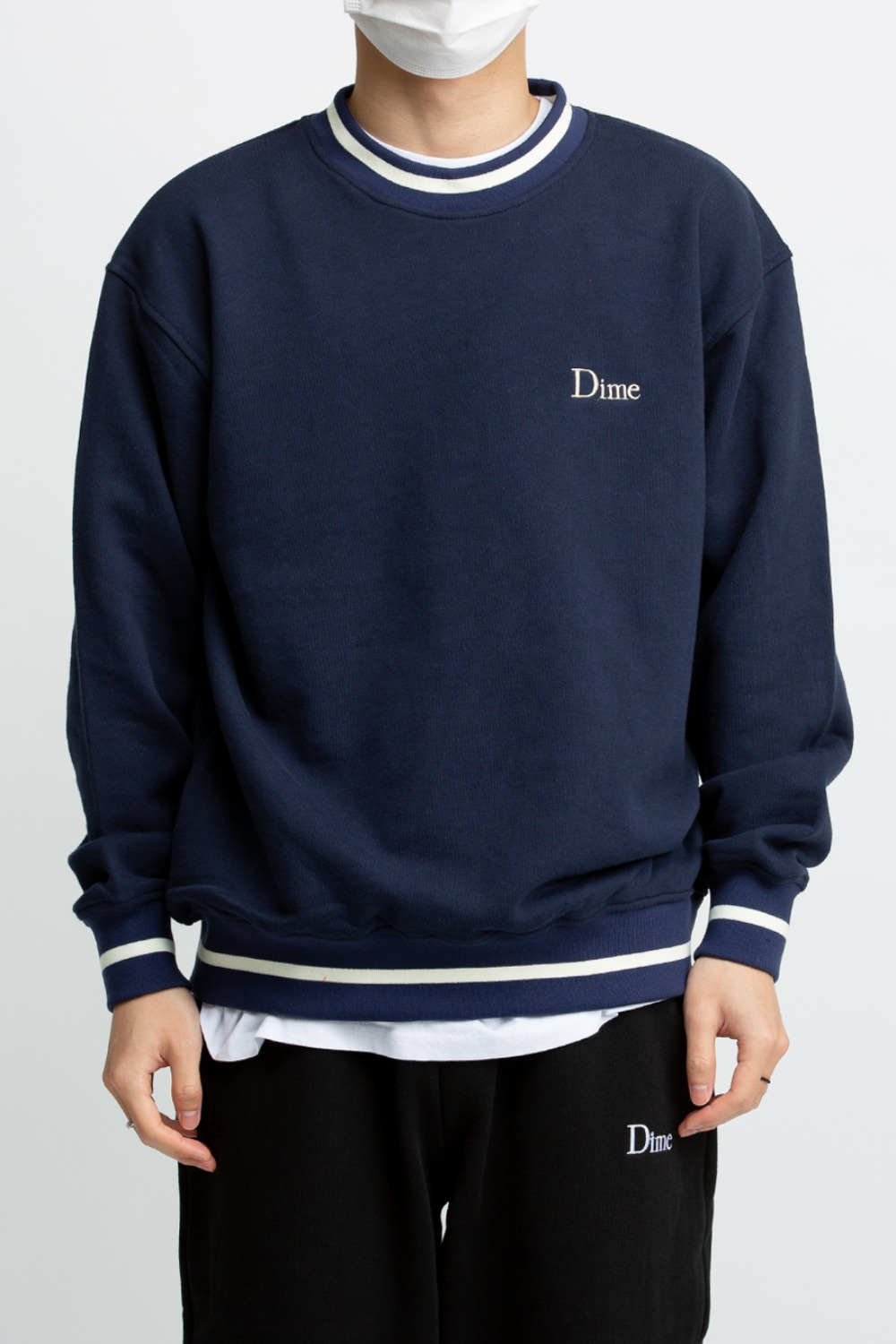 DIME CLASSIC FRENCH TERRY CREWNECK NAVY