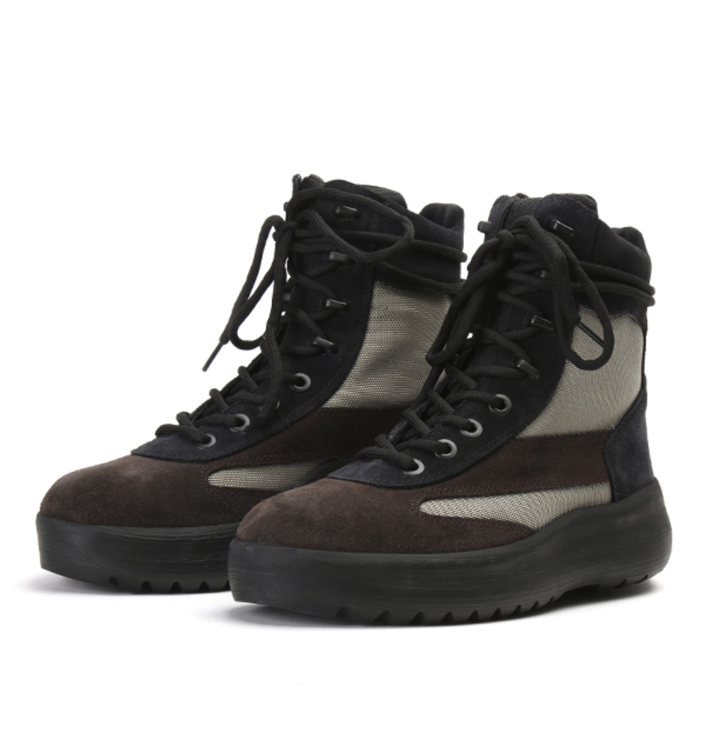 MILITARY BOOT THICK SUEDE&NYLON OIL/MILITARY(KM4005.131)