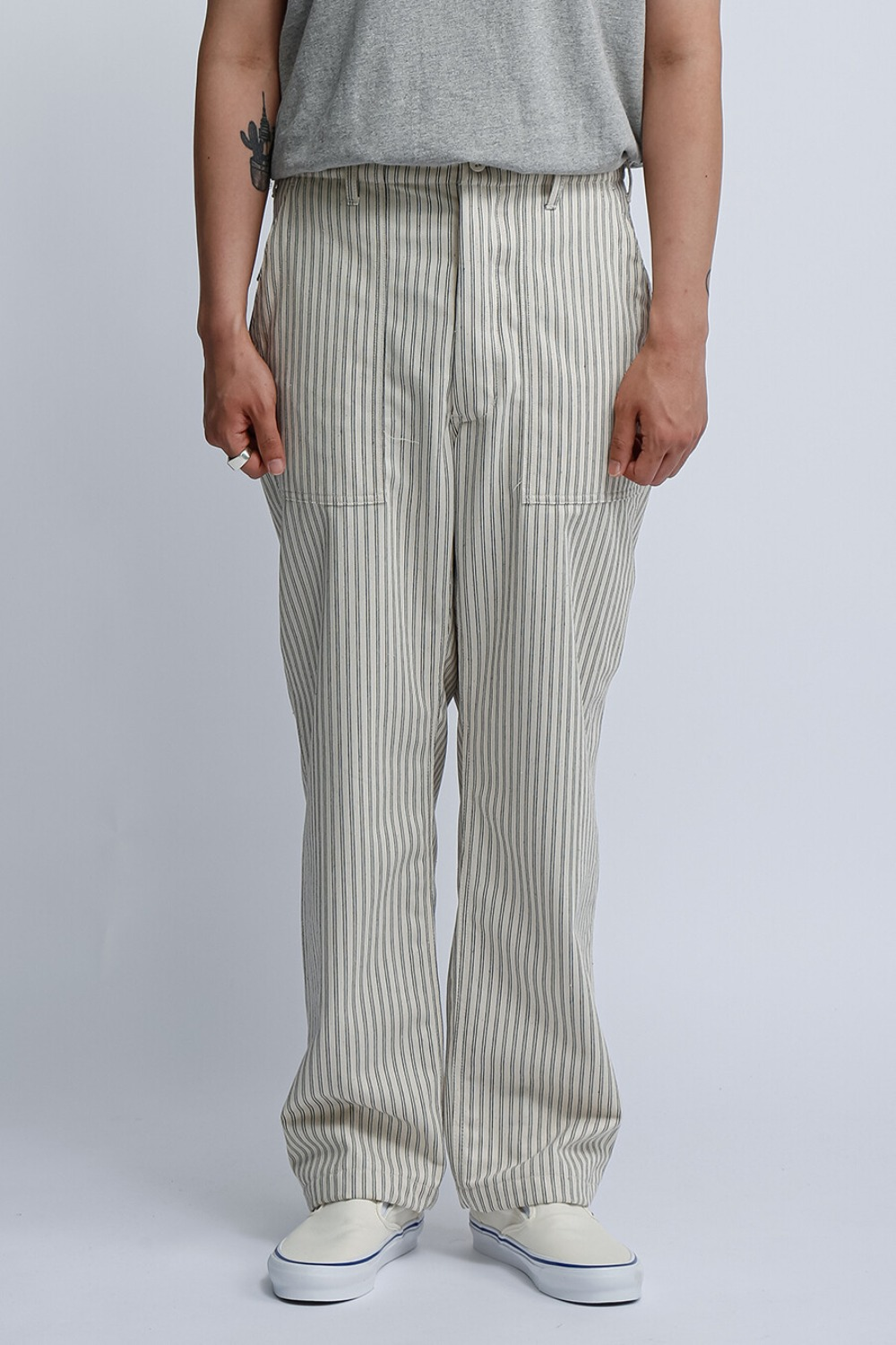 FATIGUE PANT UNIFORM STRIPE NATURAL/NAVY