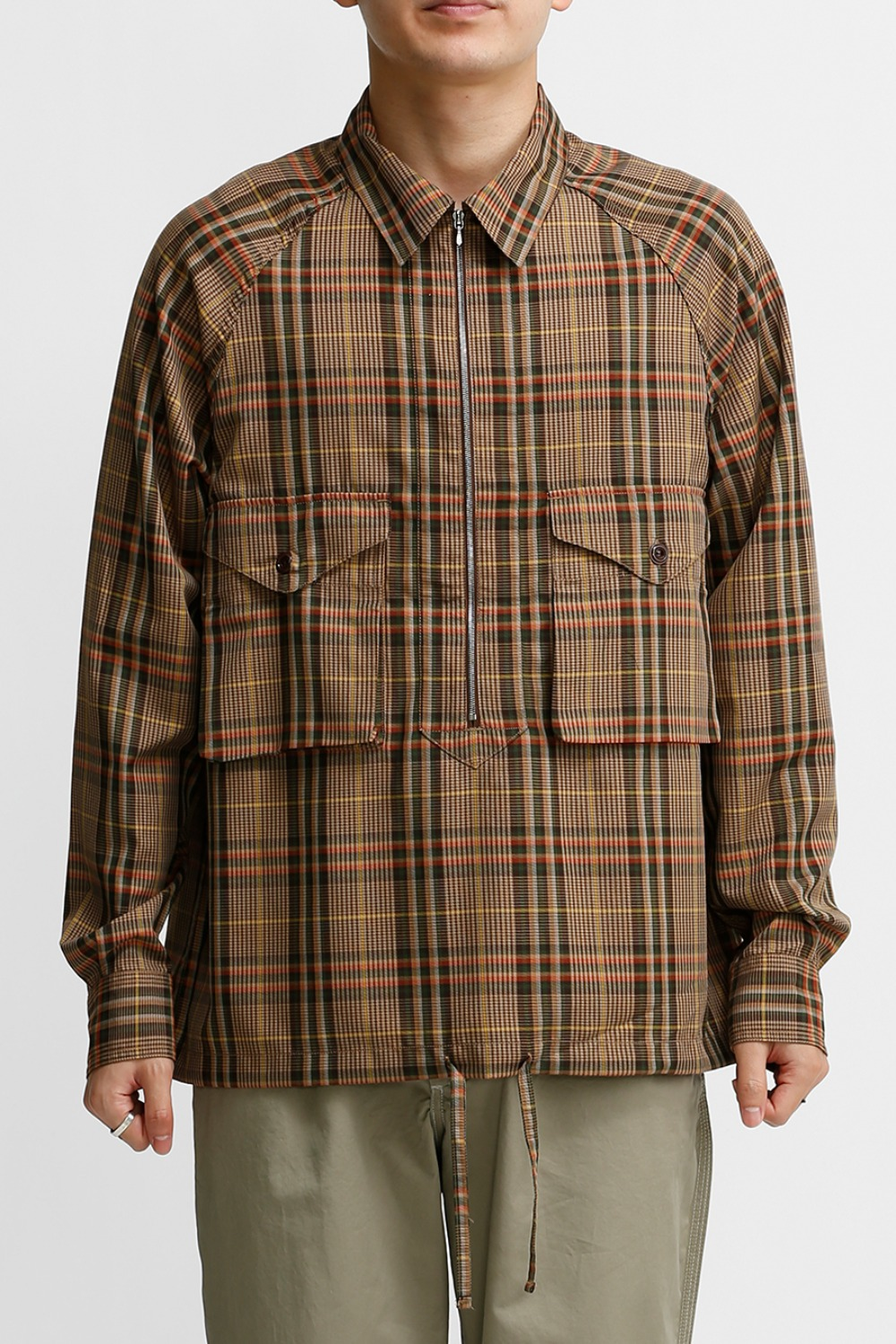 SCOUT PULLOVER SHIRT / BEIGE MULTI CHECK