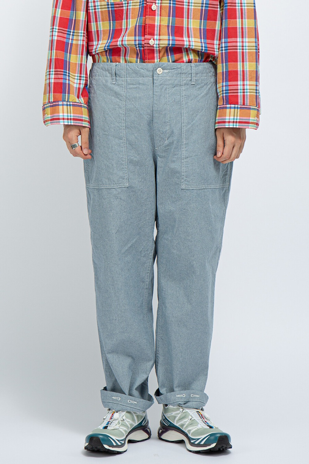 FATIGUE PANT BLUE UPCYCLED CHAMBRAY