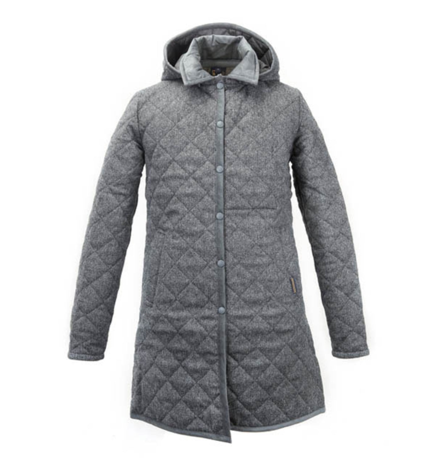 HALSTEAD LADIES WOOL GREY HERRINGBONE