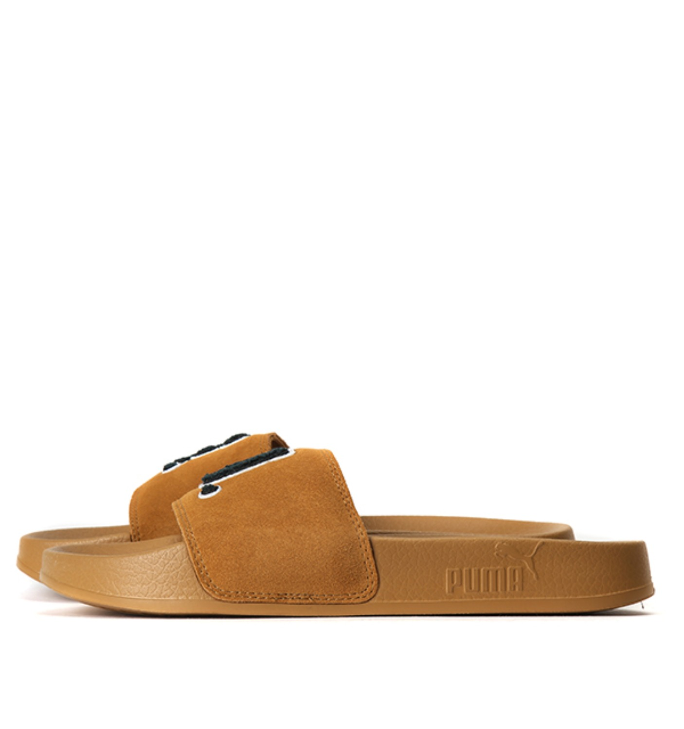 FENTY UNISEX SUEDE SLIDE SANDALS Golden Brown-Scarab
