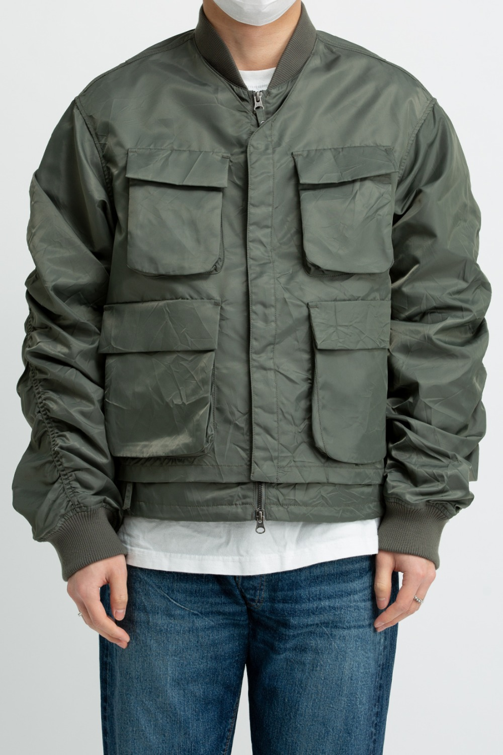 LAYERED MA-1 FLIGHT JACKET SAGE
