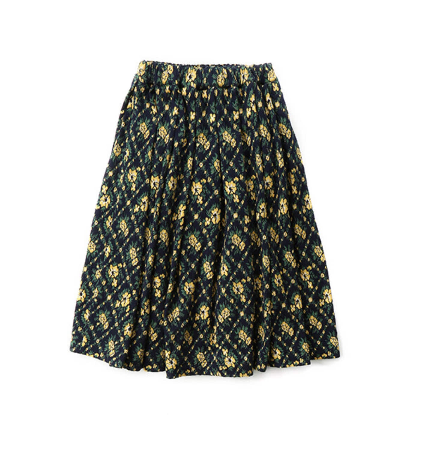 LAYLA A-LINE SKIRT FLORAL NAVY (MDS07SK01)