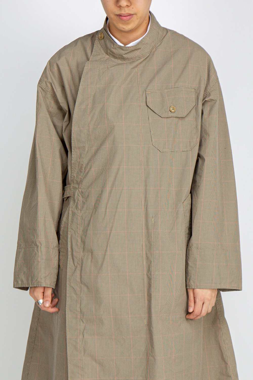 MG COAT NYCO MINI TATTERSALL KHAKI