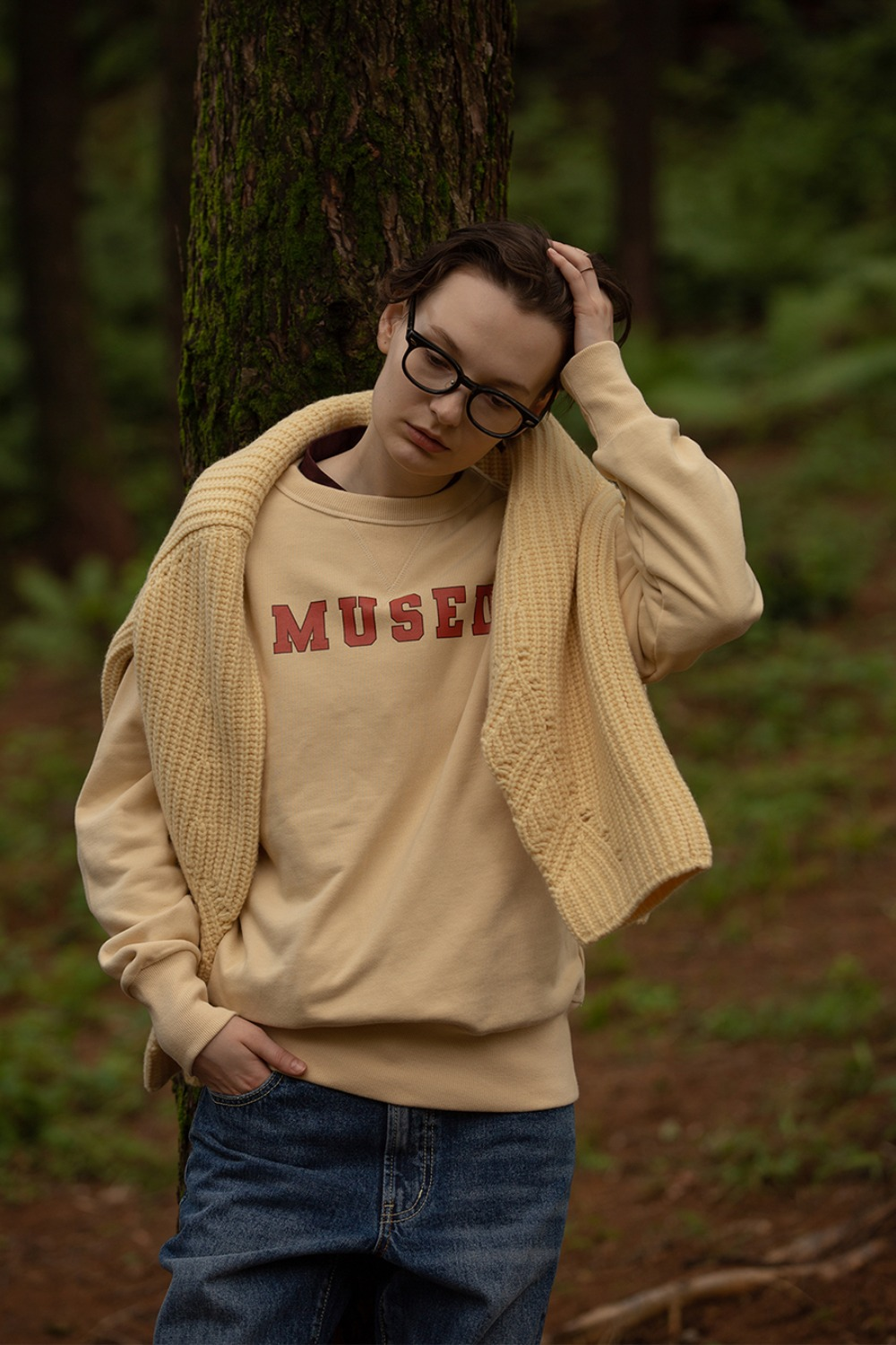 MUSED CLASSIC SWEAT SHIRT VANILLA CREAM