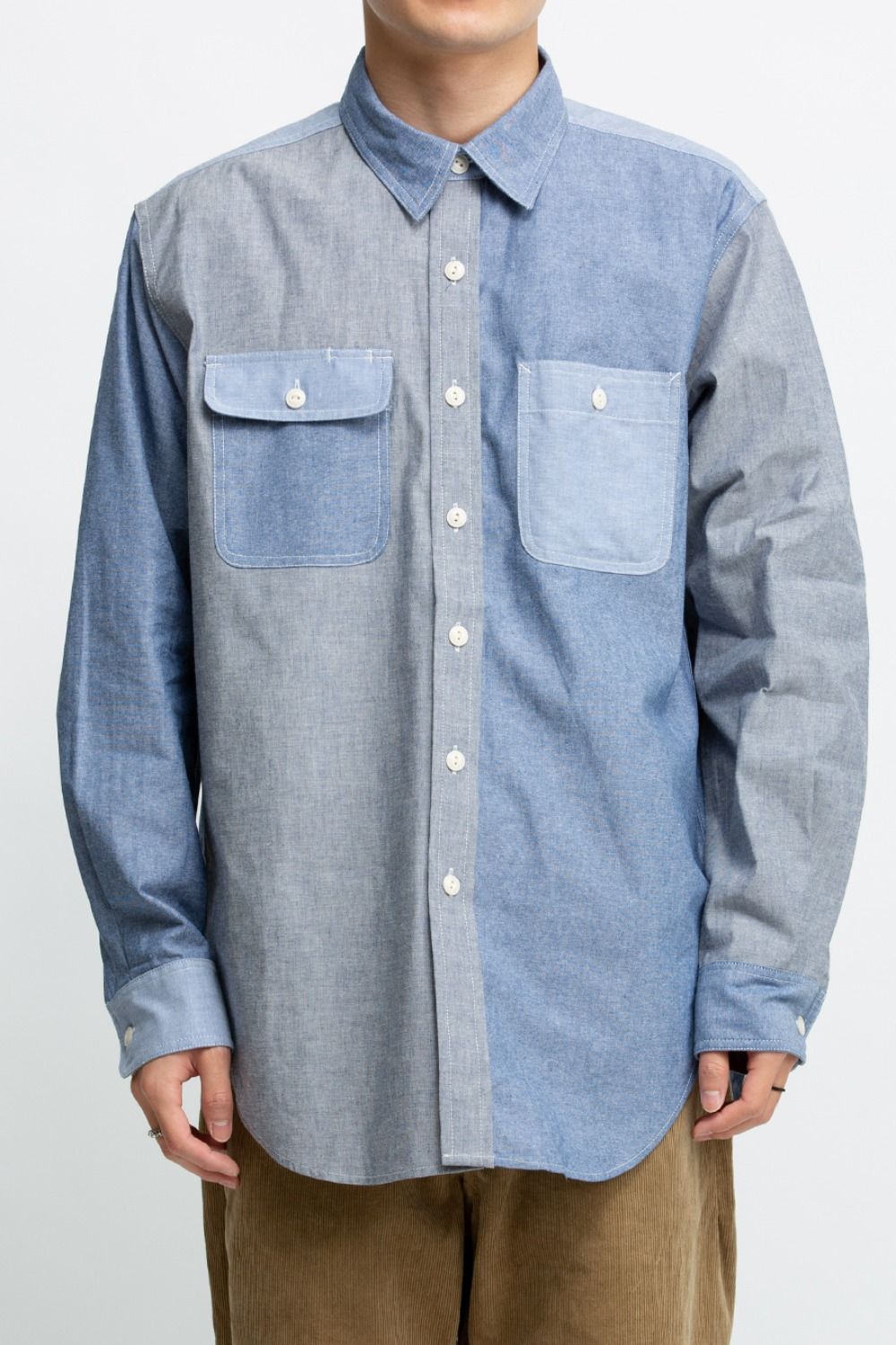 UTILITY SHIRT BLUE COTTON CHAMBRAY