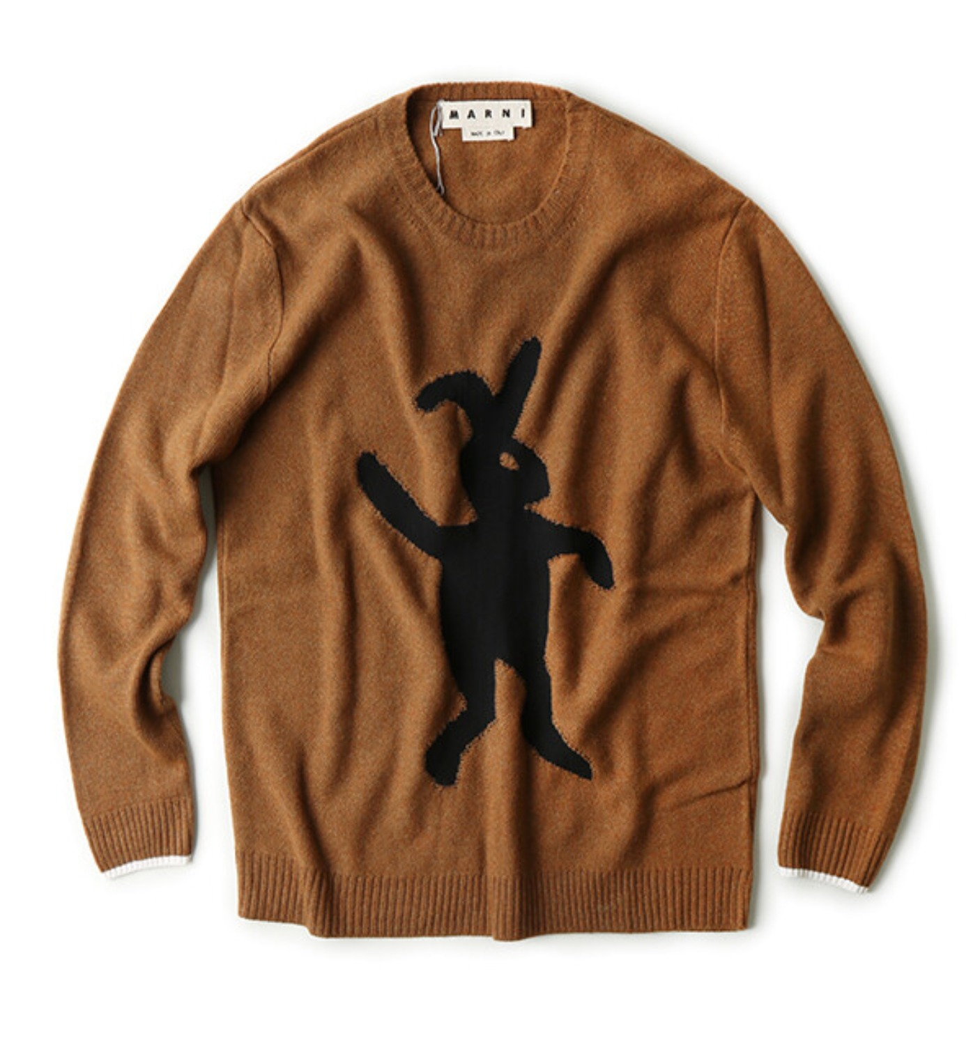 CREW NECK SWEATER BROWN