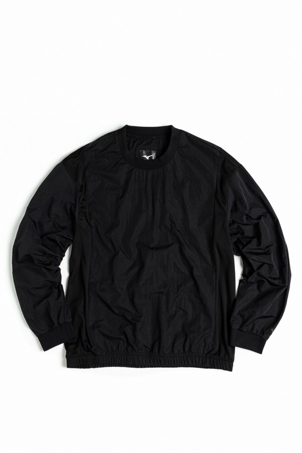 (MIZUNO) DW SWEAT SHIRT BLACK