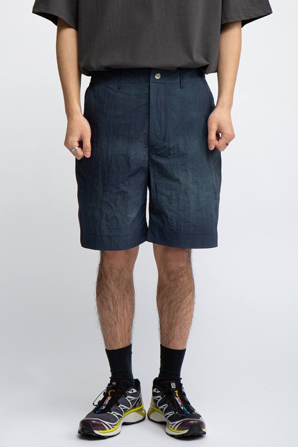 CONTRAST STITCH SHORTS