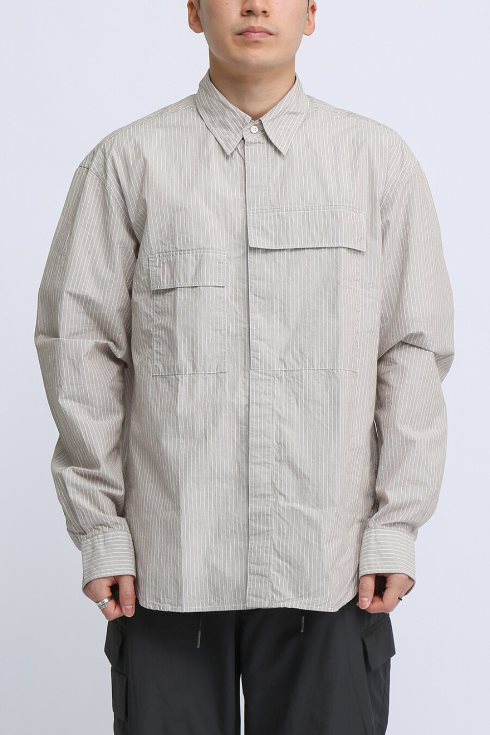 CBA SHIRT BEIGE STRIPE