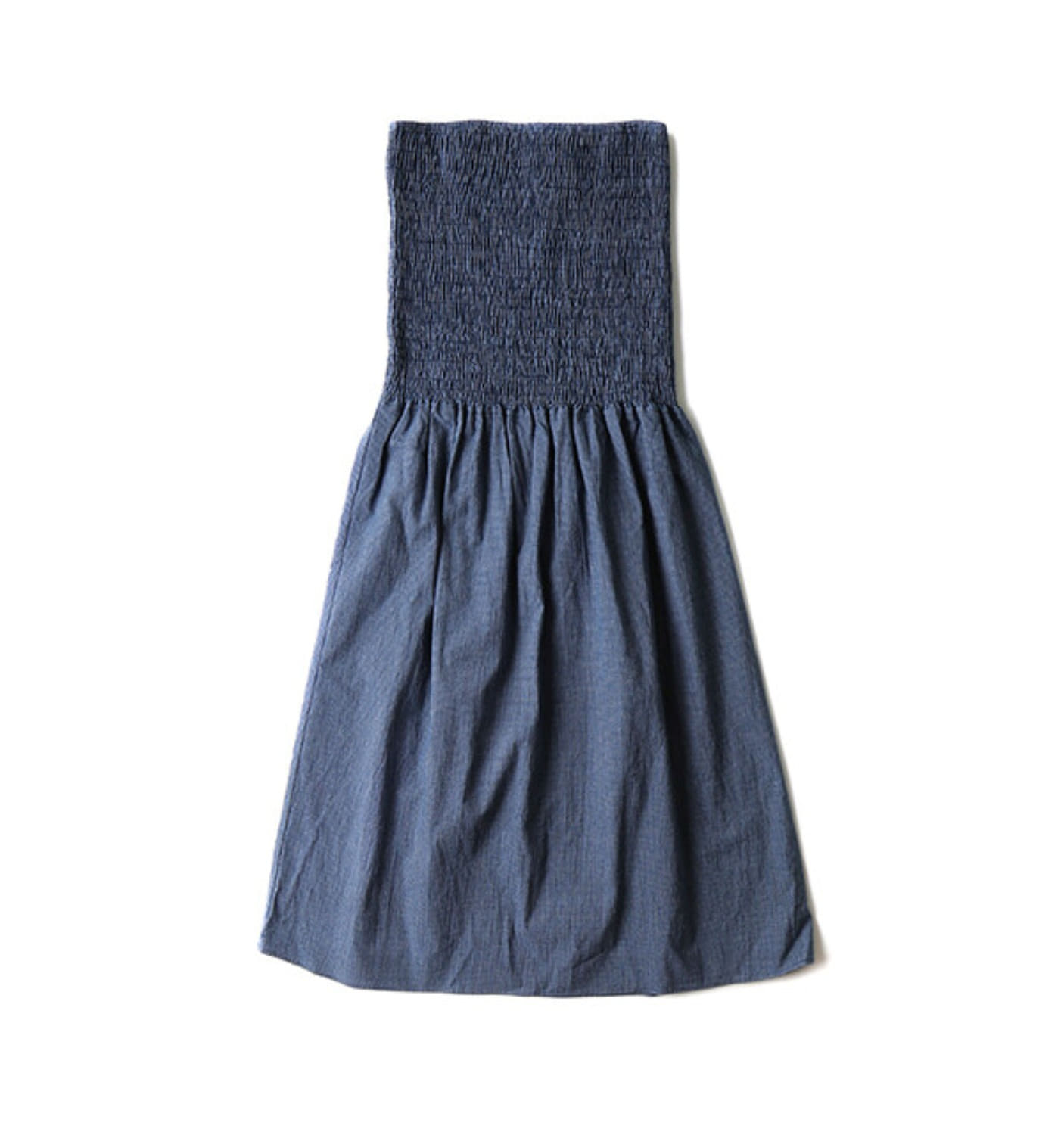 CONVERTIBLE DRESS INDIGO CHECK