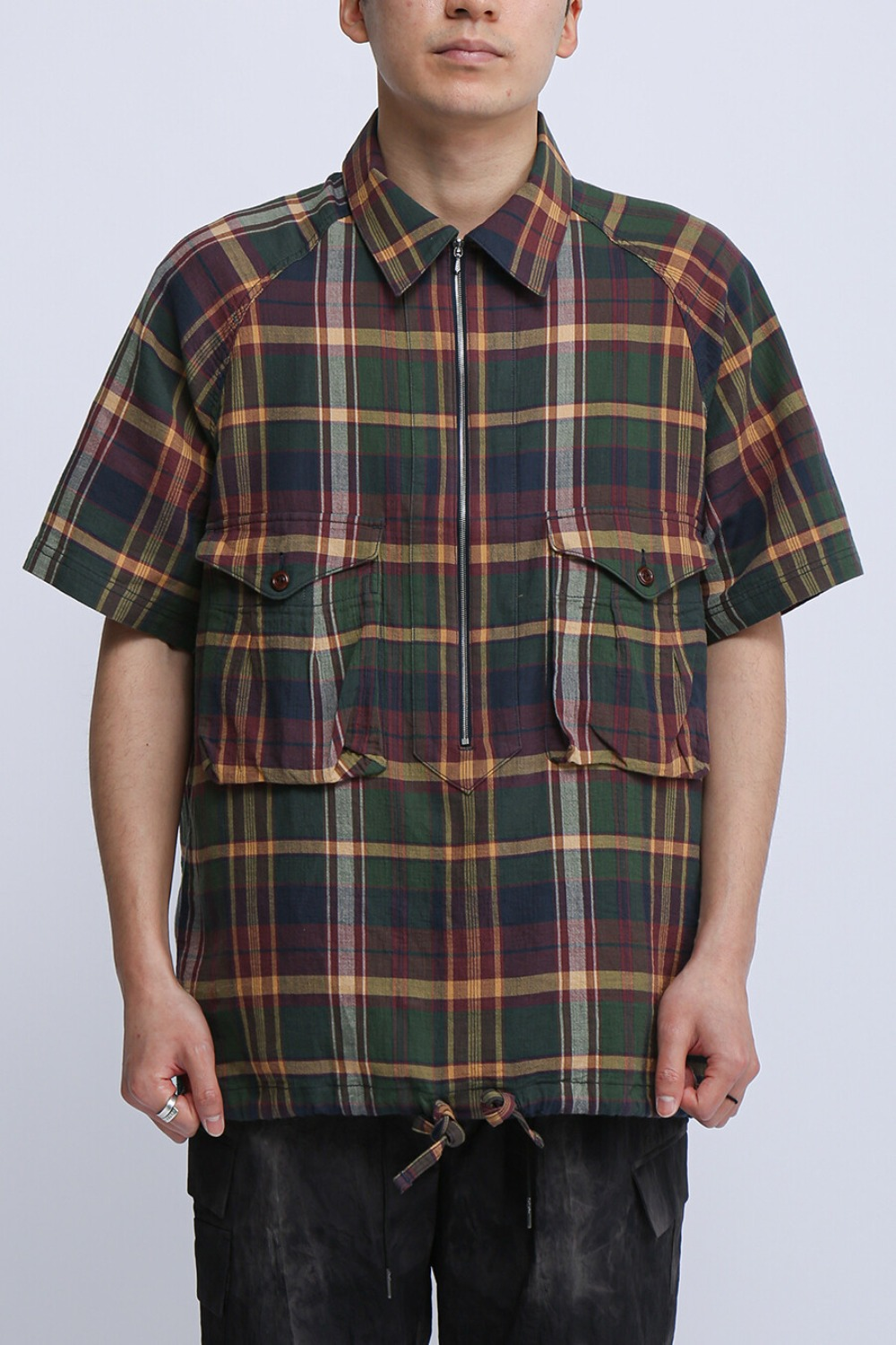 SCOUT PULLOVER SHIRT OLIVE MULTI CHECK