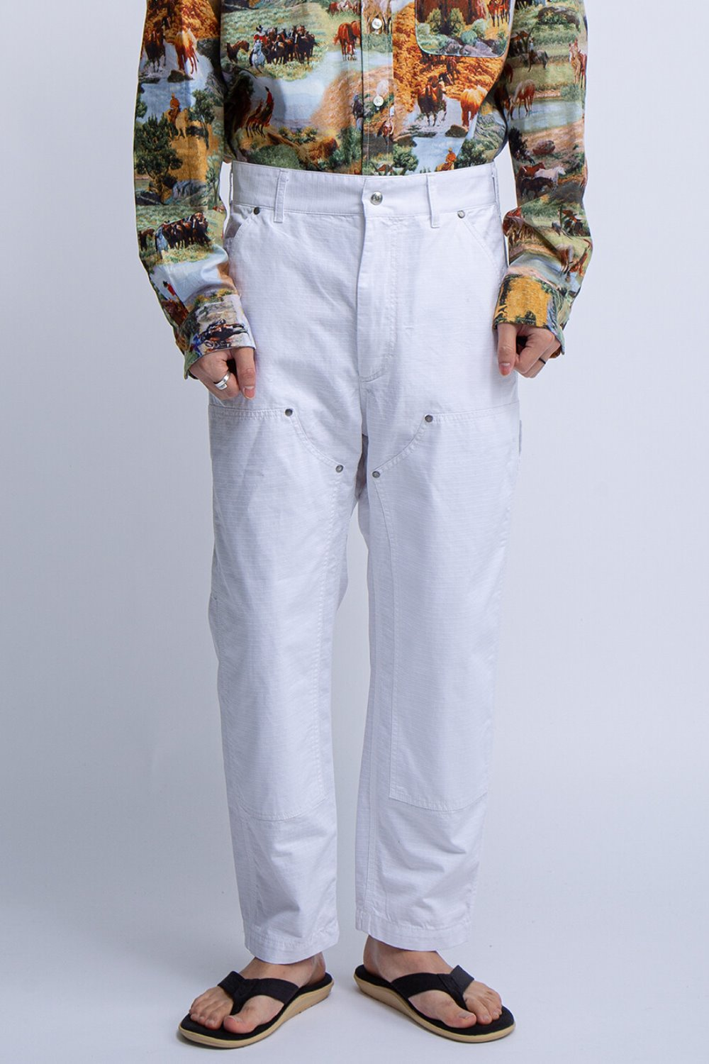 PT PANT WHITE COTTON RIPSTOP