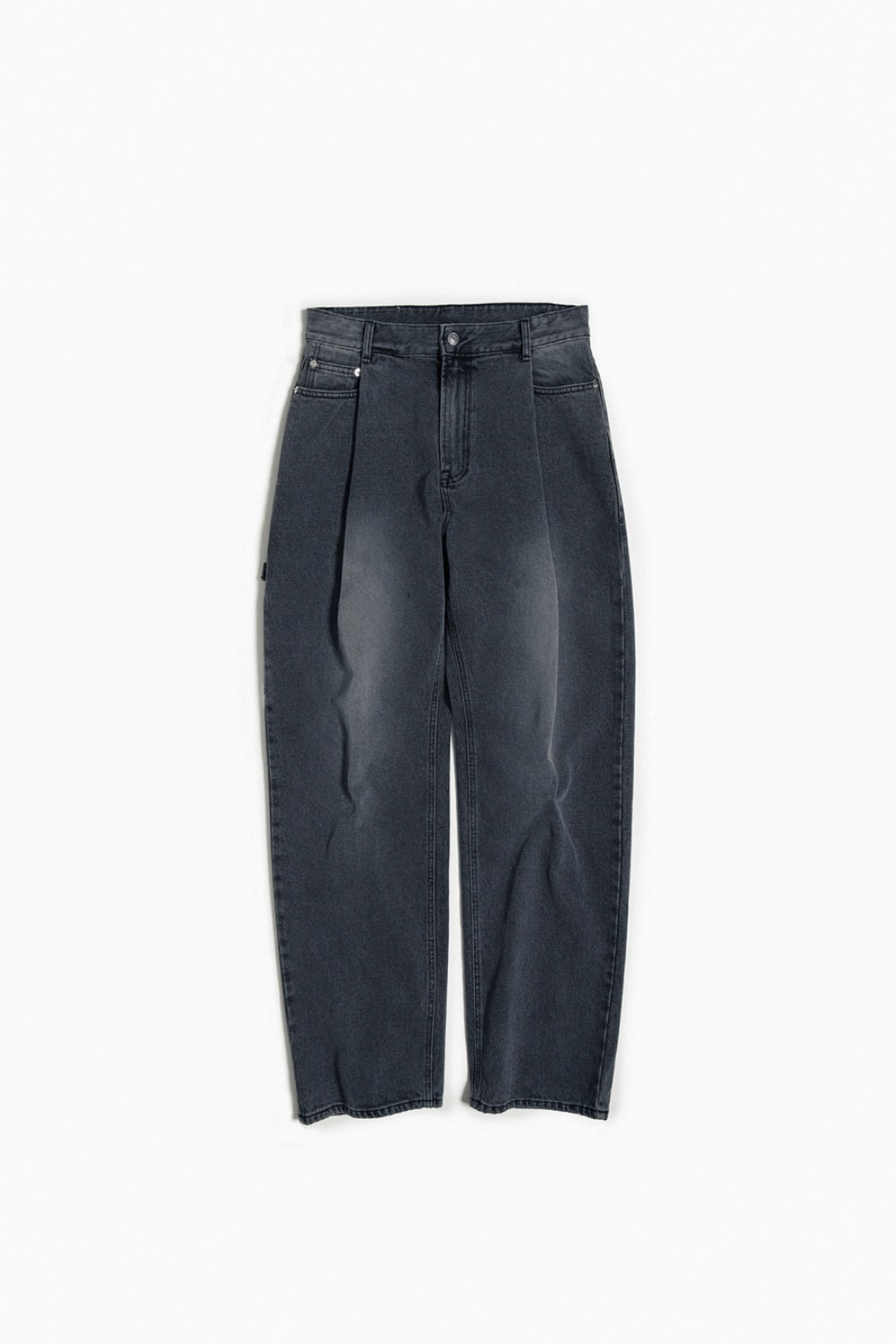 ONE TUCK WIDE DENIM BLACK