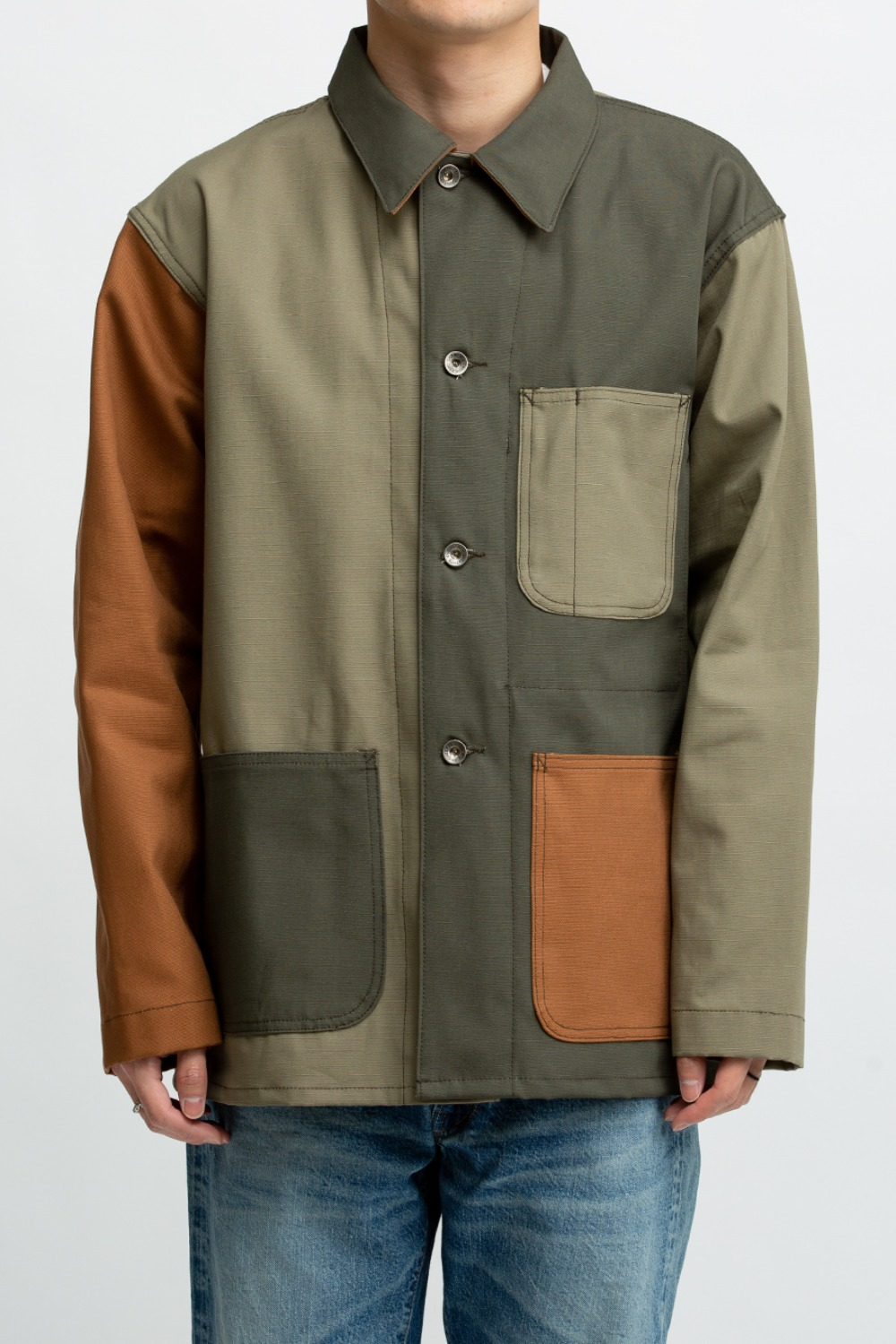 UTILITY JACKET COMBO OLIVE COTTON RIPSTOP
