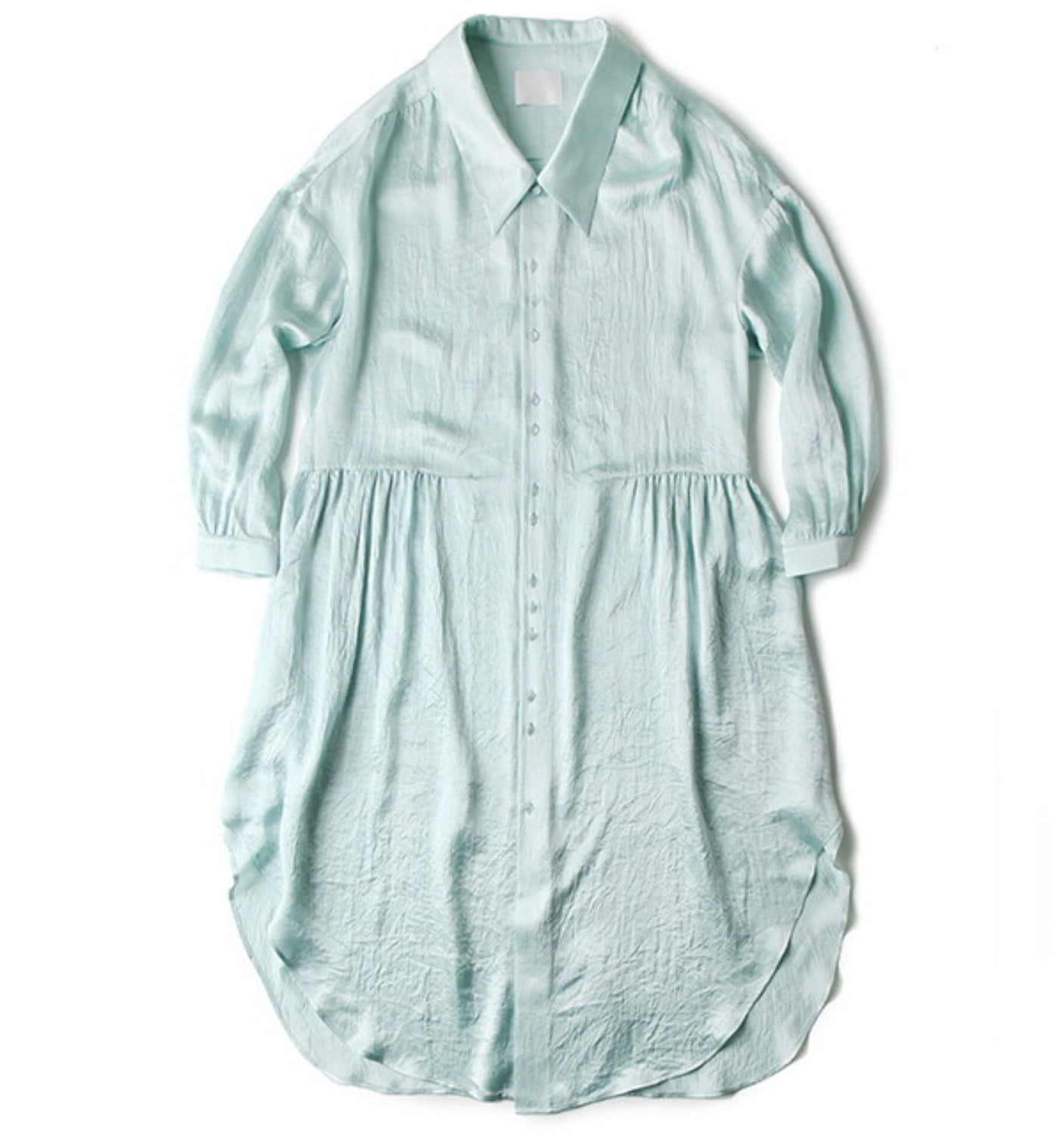 SHIRT DRESS MINT SATIN(DR01)