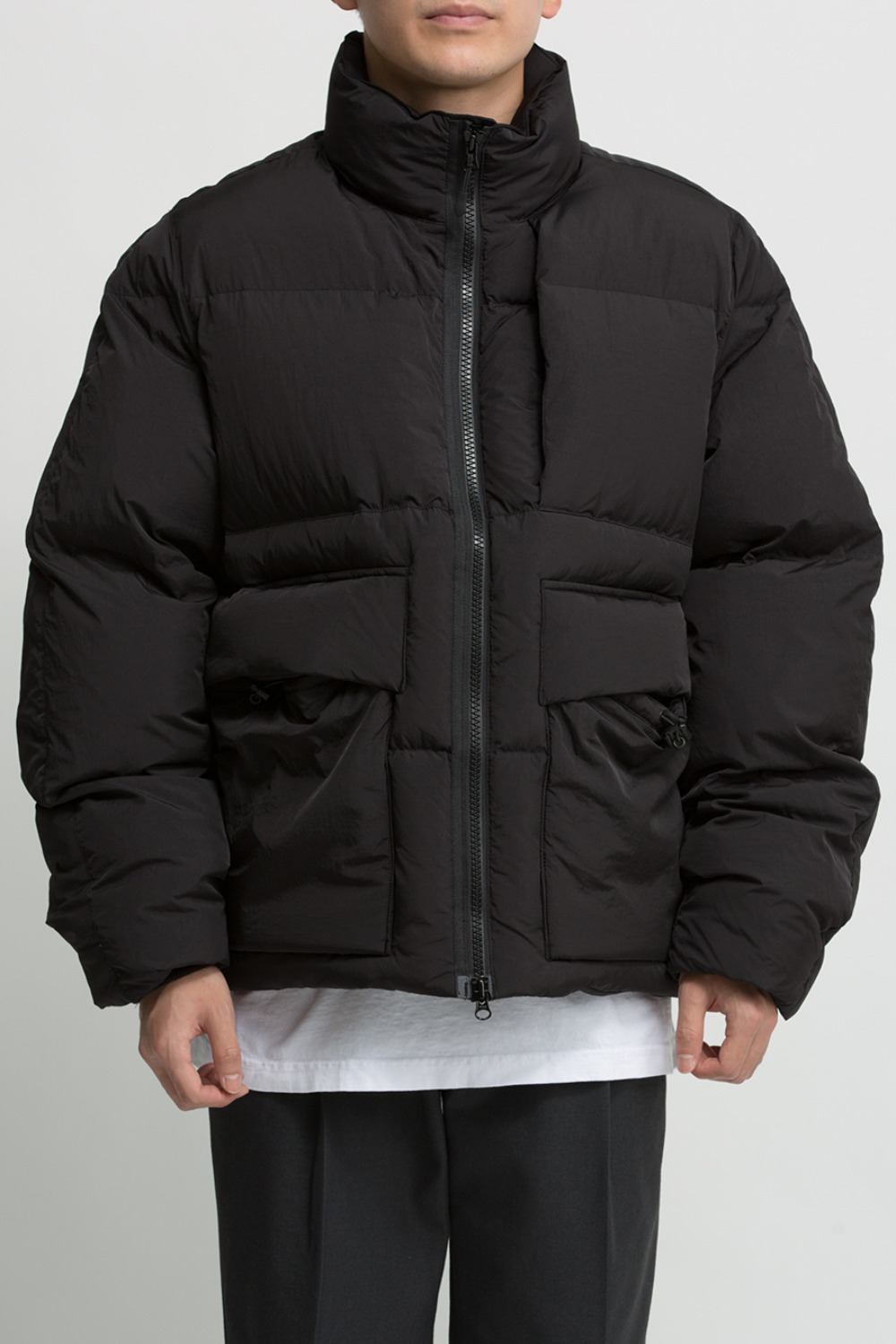 (SCULP EXCLUSIVE) PUFFA DOWN JUMPER BLACK