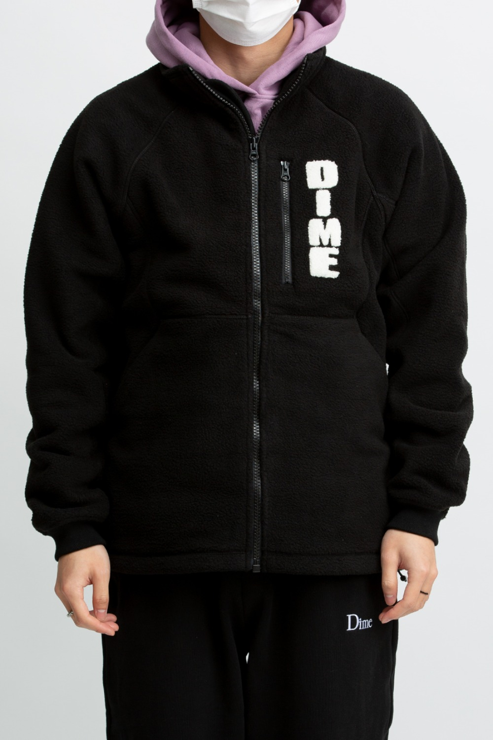 HI PILE SHERPA JACKET BLACK