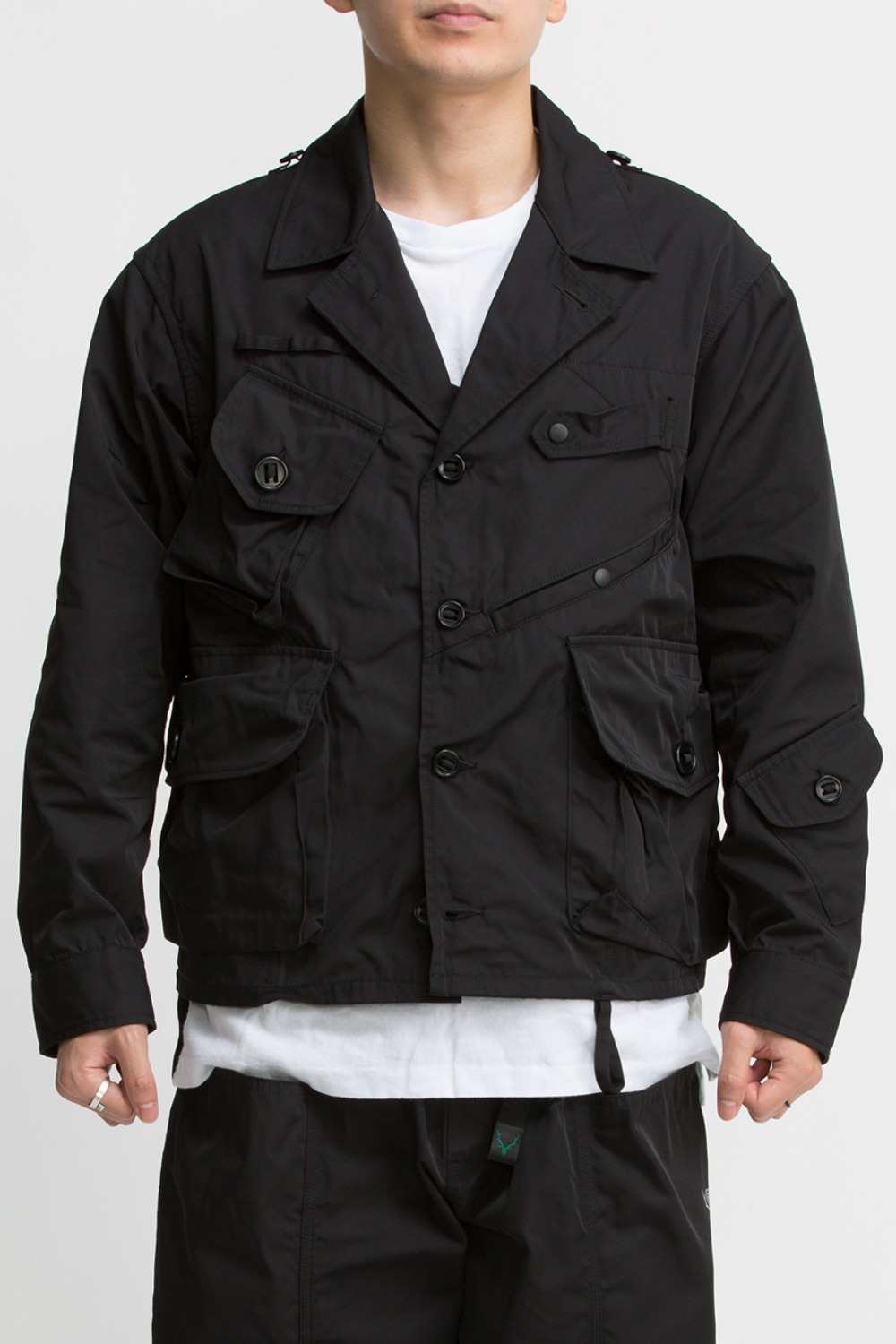 TENKARA SHIRT JACKET- POLY GABARDINE BLACK