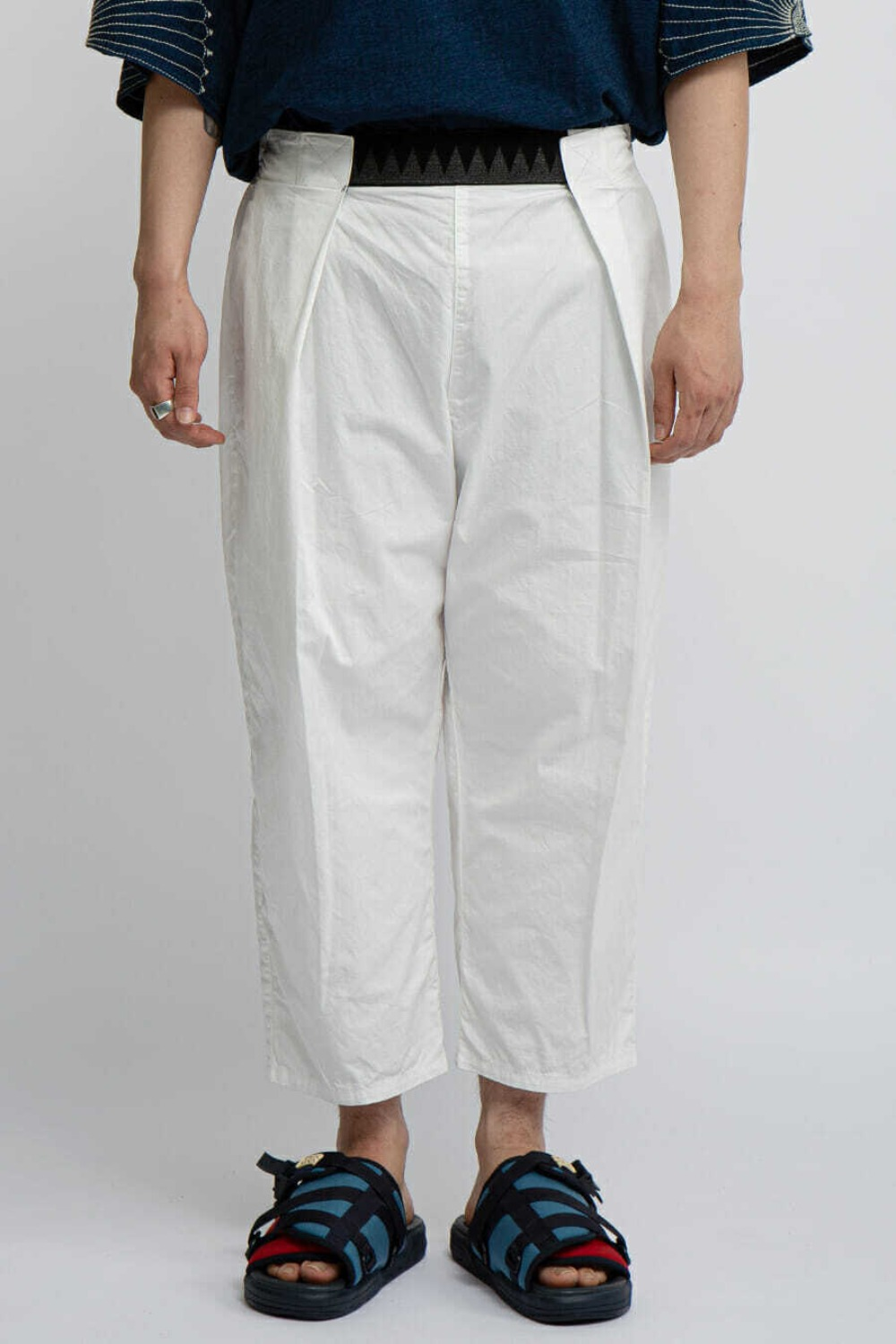 COMBED BURBERRY COTTON EASY-BEACH-GO PANTS WHITE
