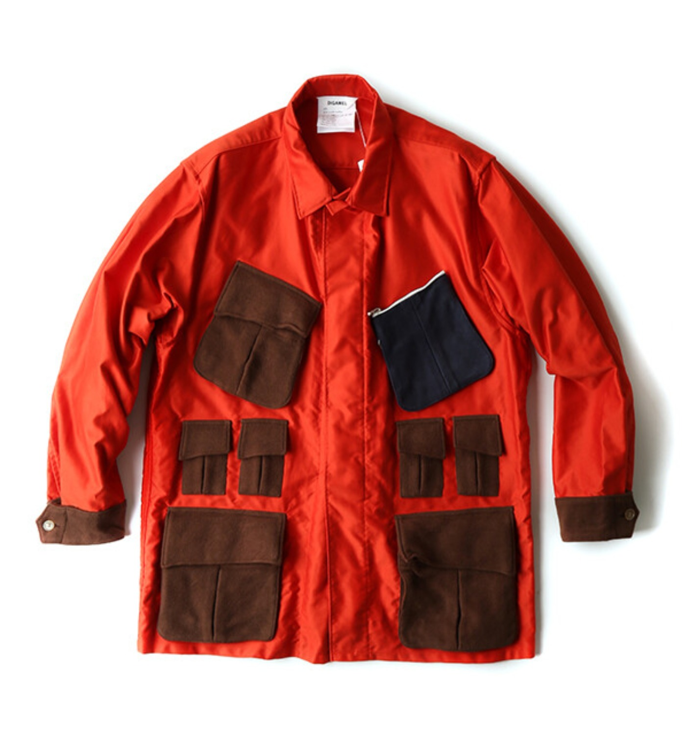 POCKET SHIRT JACKET ORANGE