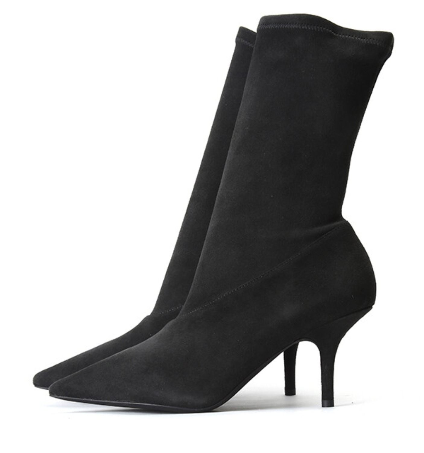 SUEDE ANKLE BOOTIE 70 MM