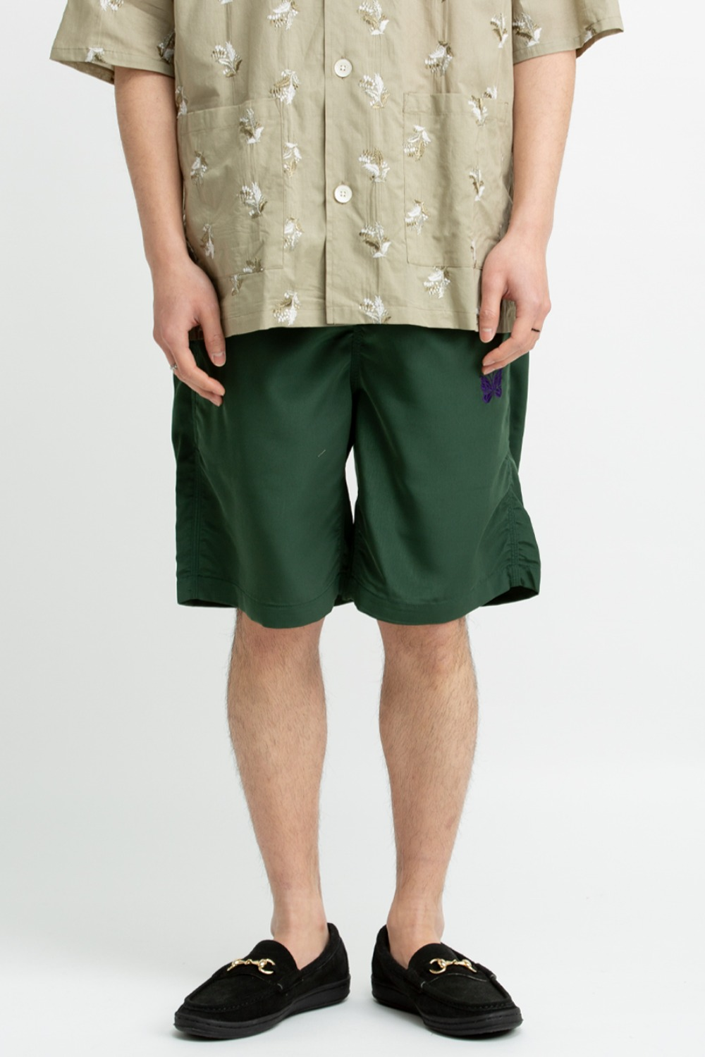 NEEDLES BASKETBALL SHORT – POLY CLOTH GREEN