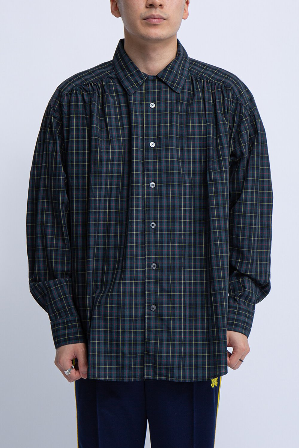 PAINTER SHIRT HUNTER GREEN COTTON PLAID