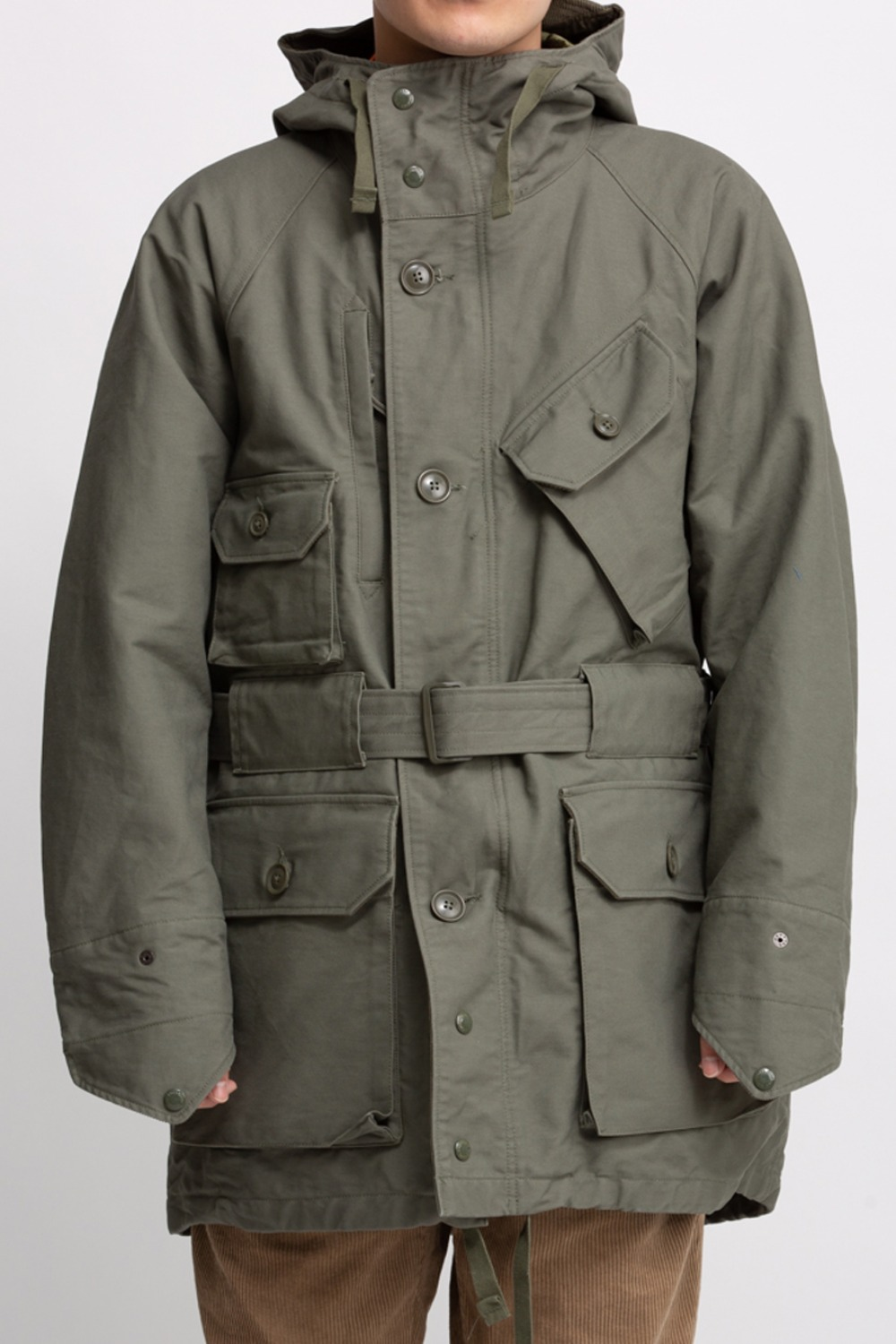 FIELD PARKA OLIVE COTTON DOUBLE CLOTH