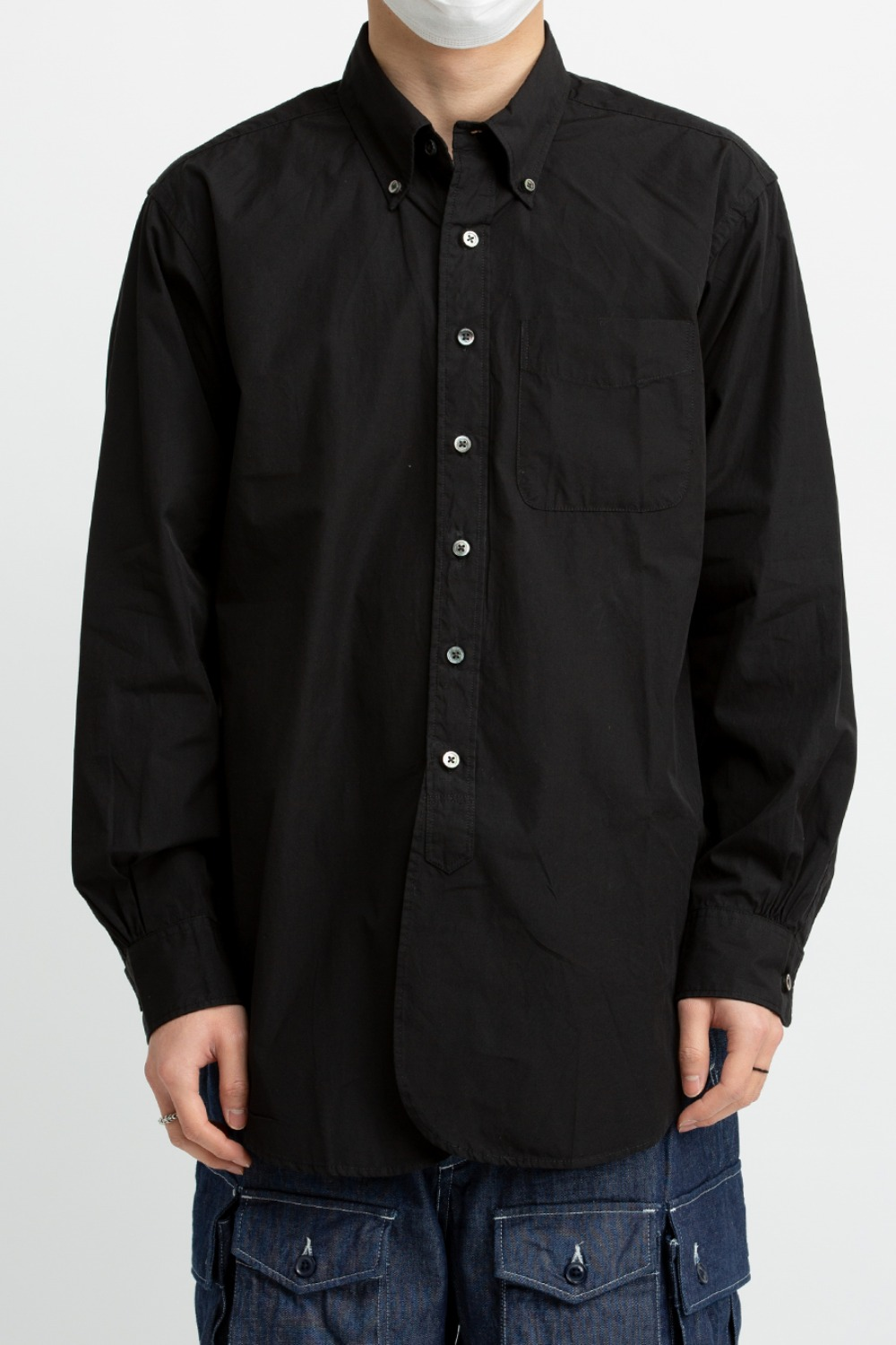 19 CENTURY BD SHIRT 100'S 2PLY BROADCLOTH BLACK