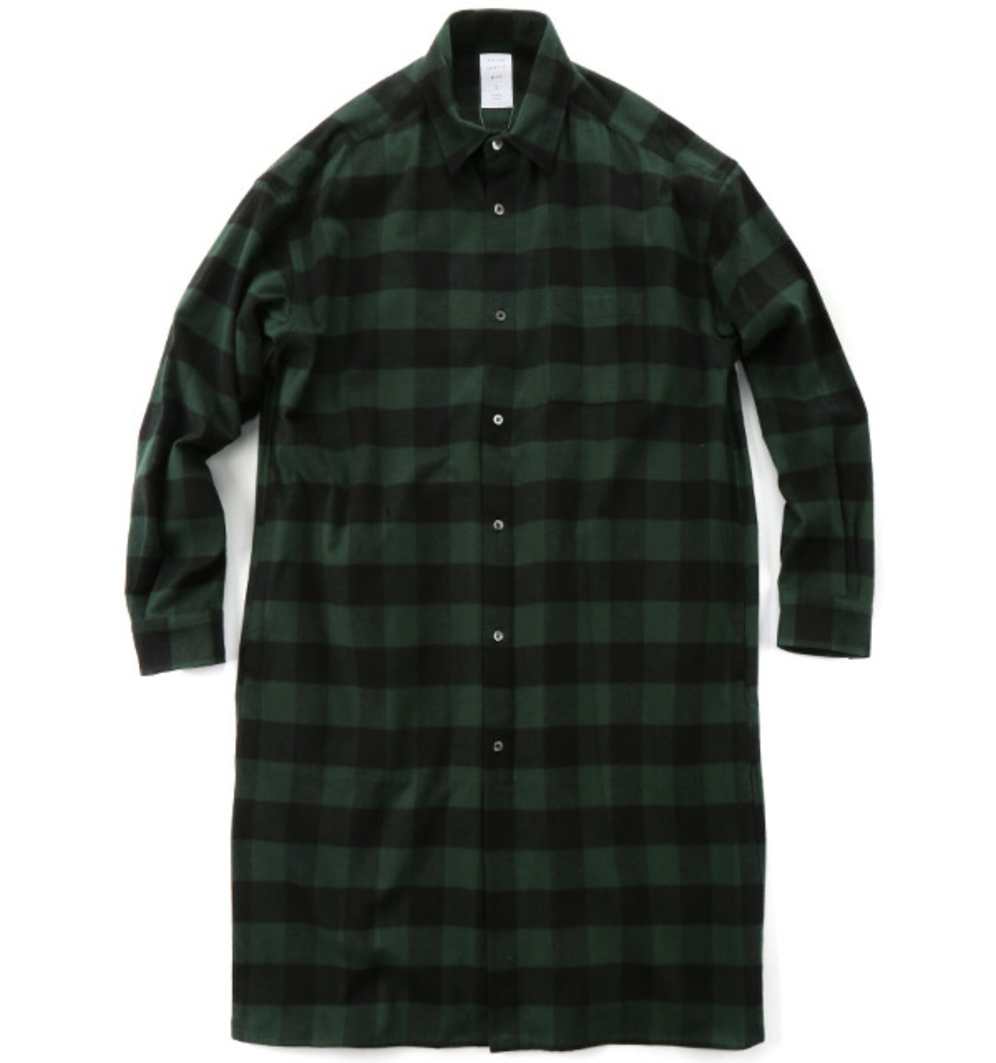 BUFFALO CHECK LONG SHIRT GREEN CHECK