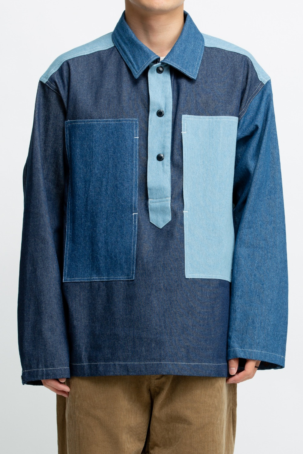 ARMY SHIRT COMBO INDIGO 8OZ DENIM
