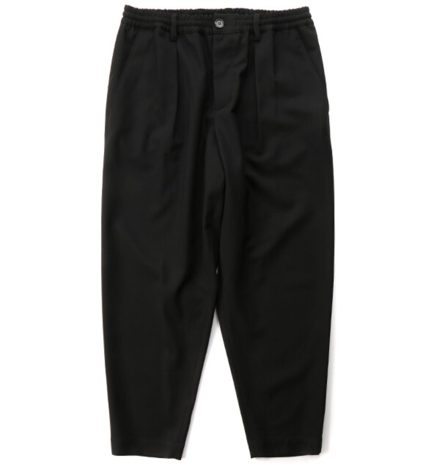 TROPICAL WOOL PANTS BLACK