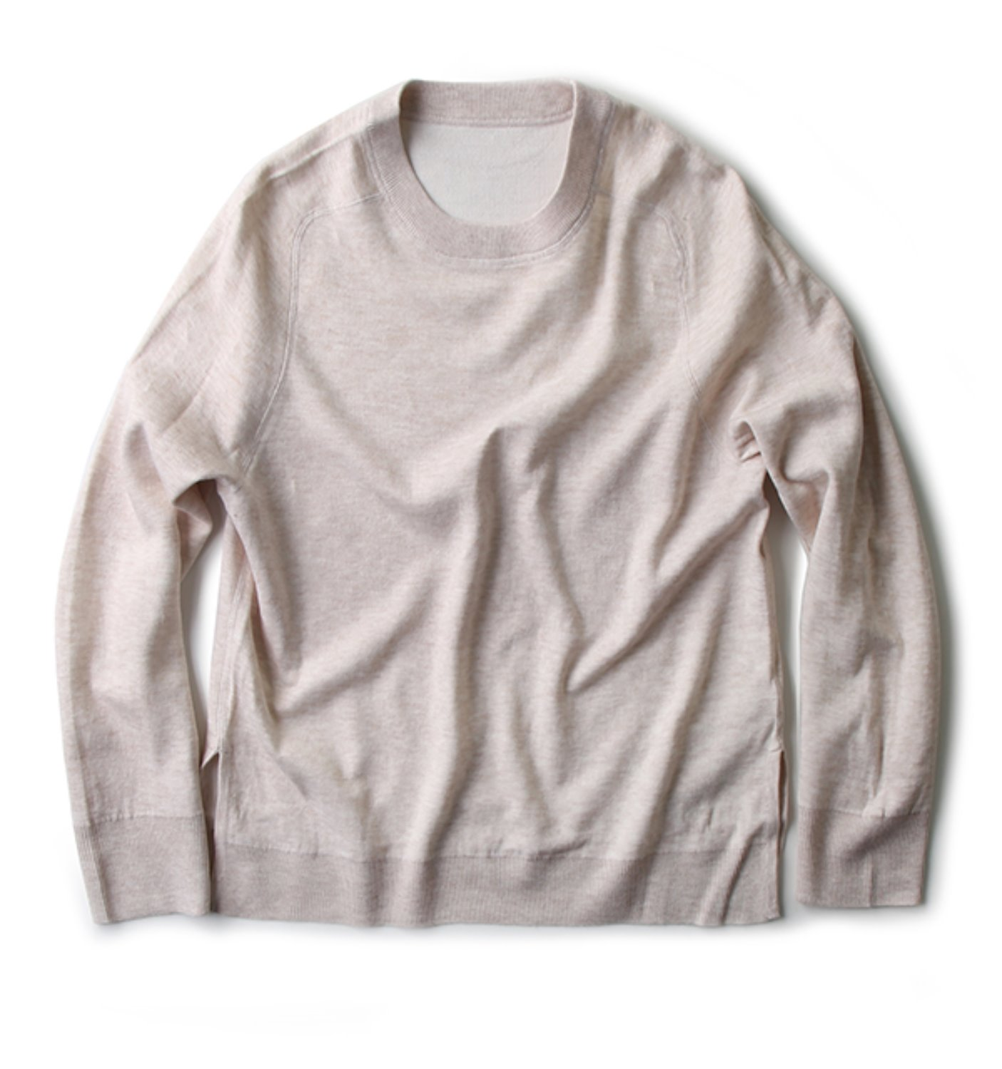 REVERSIBLE CREW SWEATER NATURAL