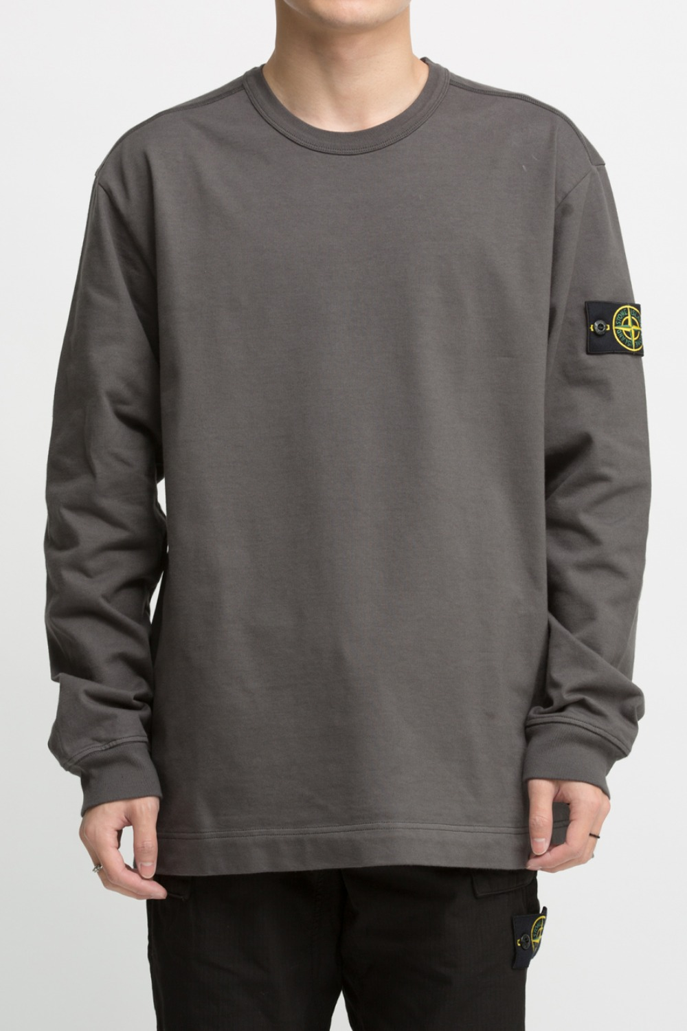 GARMENT DYED CREWNECK SWEATSHIRT CHARCOAL