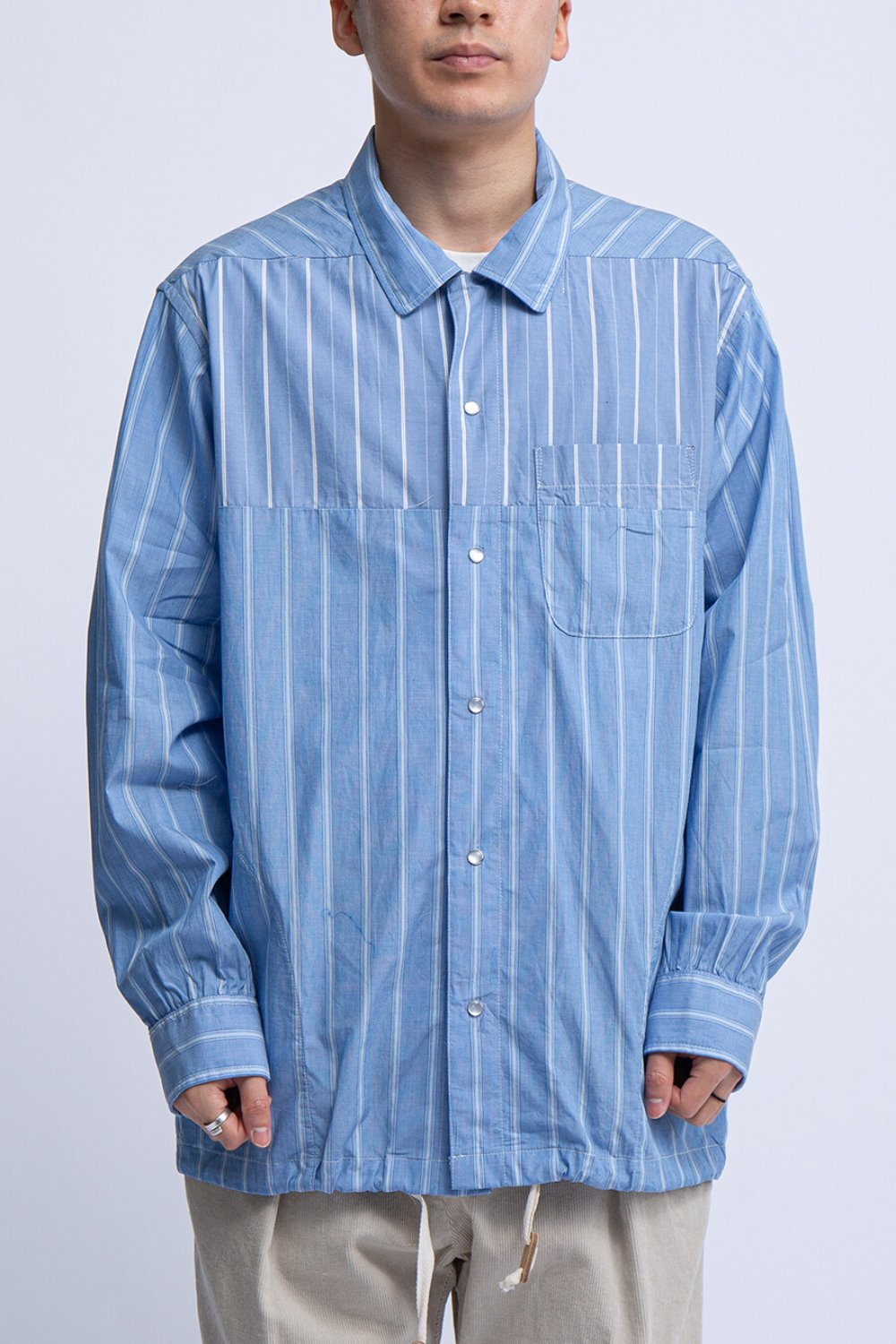 COACH SHIRT BLUE/WHITE WIDE REGENT ST
