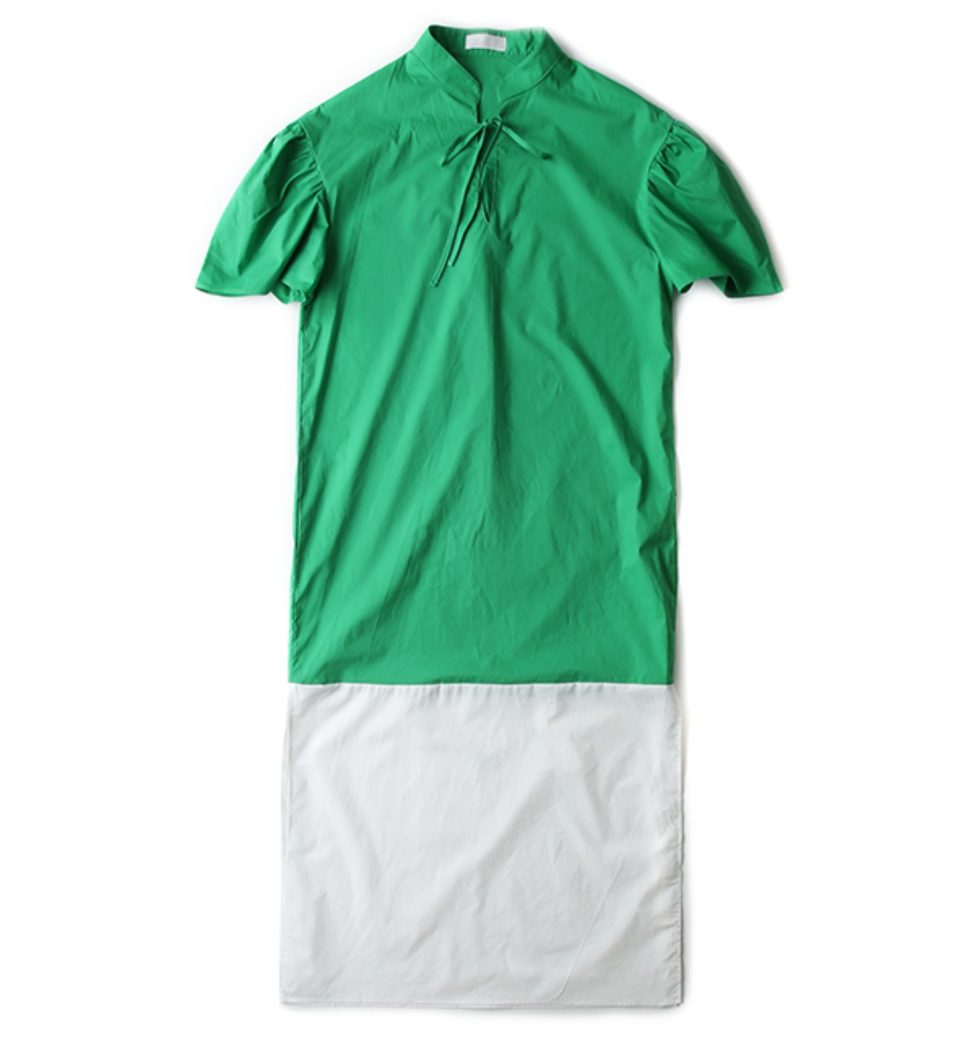 FILLE DRESS GREEN/WHITE