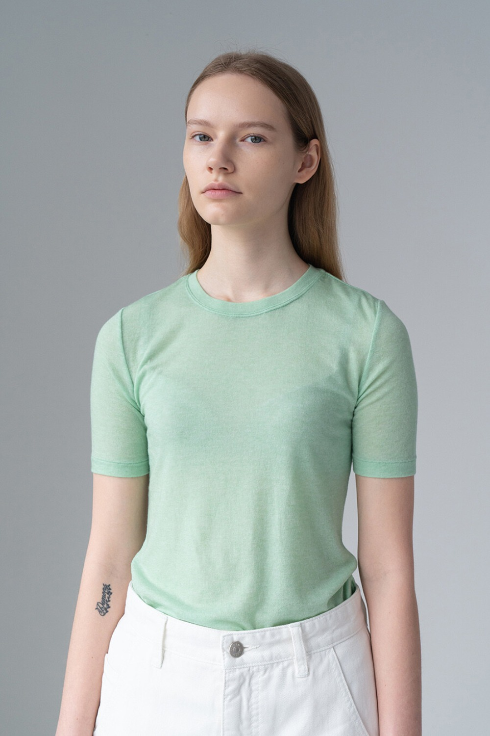 SUBTLE FEMININE TOP-MINT