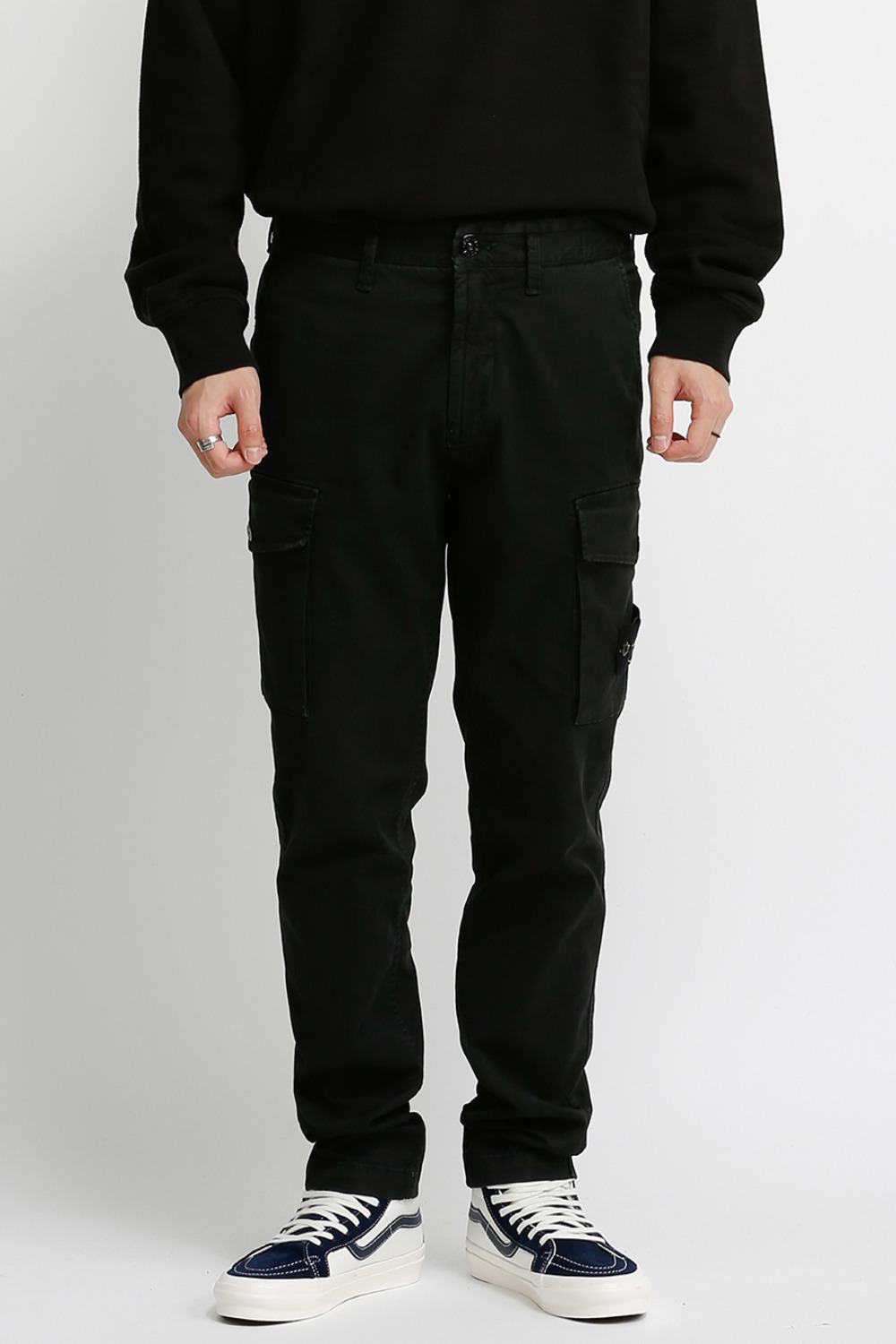 T.CO+OLD STRETCH CO BROKEN TWILL CARGO PANTS(318L1) BLACK