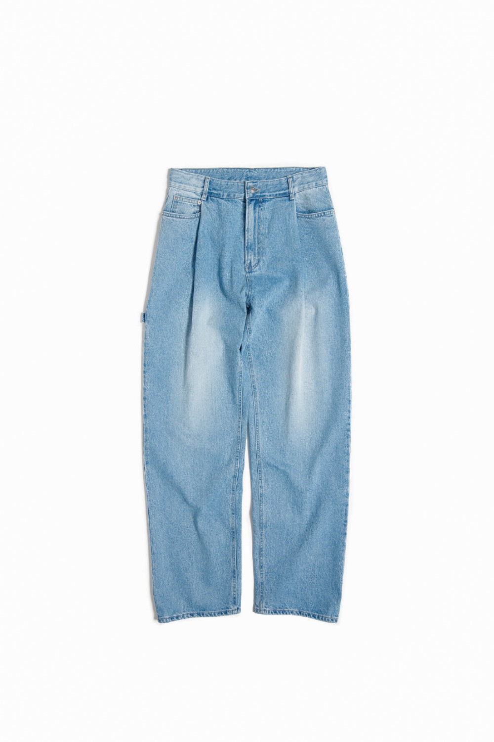 ONE TUCK WIDE DENIM LIGHT BLUE