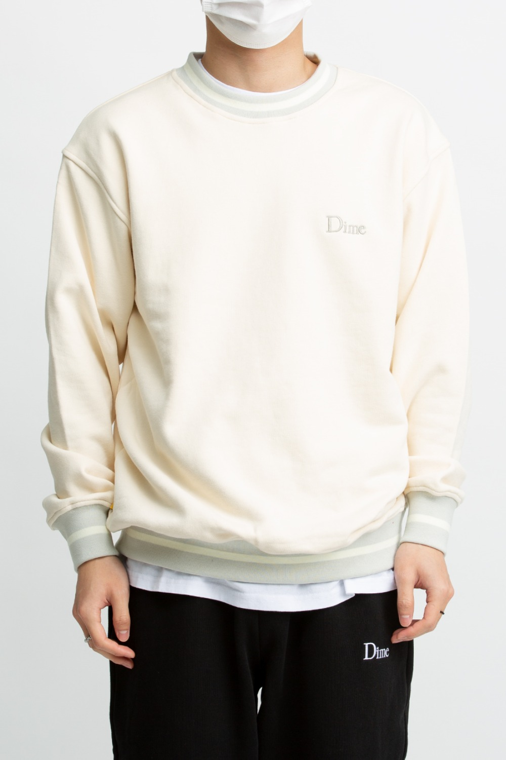DIME CLASSIC FRENCH TERRY CREWNECK CREAM