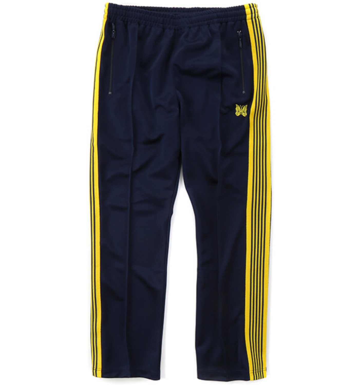 (SCULP EXCLUSIVE)NARROW TRACK PANT DARK NAVY/YELLOW